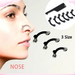 Nose Up Clipper Wholesale NZ - 6PCS Set 3 Sizes Nose Up Lifting Shaping Clip Clipper Shaper Bridge Straightening Beauty Nose Clip Corrector Massage Tool No Pain