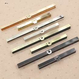 metal framed wallets UK - 11.5cm 19cm Bronze,Silver and Black Bags Purse Metal Frame Clasps Making Supplies,ideal for wallet coin purse 10 piece