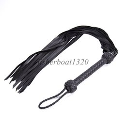 Handle Whip Australia - High Quality Soft Sheep Leather Whip Flogger Handle Tassels Restraint Roleplay A876