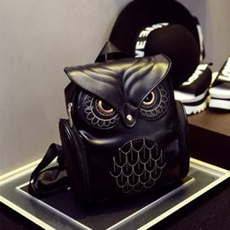 Wholesale New Fashion Women Bag Leather Owl Travel School Backpack For Lady Girls Backpack Shoulder Bag Pretty
