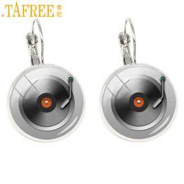 $enCountryForm.capitalKeyWord Australia - TAFREE Music Sheet Earrings CD Record Disc classical clip on earring Fashion glass Women accessories Rhodium Plated jewelry H493