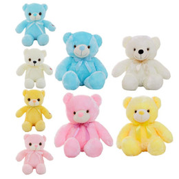 glow animals toys NZ - 30-50cm Creative Light Up LED Teddy Bear Stuffed Animals Plush Toy Colorful Glowing Teddy Bear Christmas Gift for Kids
