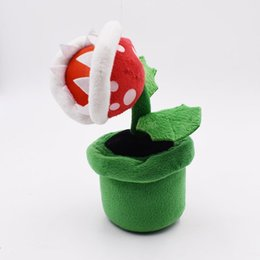 $enCountryForm.capitalKeyWord Australia - 22cm Super Mario Man-eater flower Plush Stuffed Toy Mario plush toys best gift doll lol free shipping