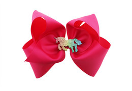 China Jojo Siwa Unicorn Big Hair Bows with Ponytail Holder 6inch Classic Accessories for Teens Women Girls Softball Cheerleader Sports supplier sports bow hair suppliers