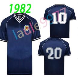 995042a5e 1982 Scotland retro soccer jersey home blue world cup 82 83 Dalglish  Strachan Miller Souness Hansen George Wood football shirts S-xxl