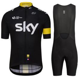 Sky cycling jerSey bibS Short online shopping - NEW SKY Pro Cycling Clothing Cycling Sets Bike Shorts Summer Mans Cycling Jersey Set Road Bicycle Bib Shorts MTB Wear