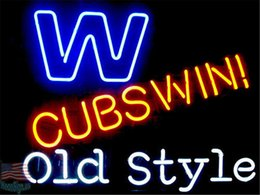 $enCountryForm.capitalKeyWord NZ - New Star Neon Sign Factory 17X14 Inches Real Glass Neon Sign Light for Beer Bar Pub Garage Room W Cubs Win Old Style.
