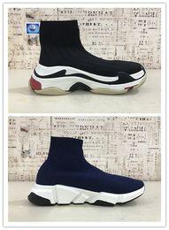Speed S online shopping - 2019 HOT Triple S Paris Speed Runner Black red Sock ShoeS Original Luxury Trainer Runner Sneakers Race Mens Women Sports Shoes