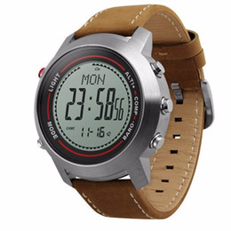 $enCountryForm.capitalKeyWord Australia - Mg03 Smart Watch Leather Band Multi-function 5atm Stainless Steel Dial Mountaineer Sports Watch Altimeter Barometer Thermometer