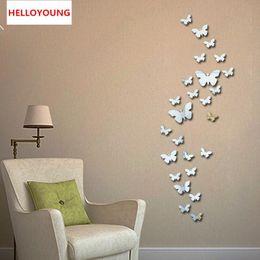 $enCountryForm.capitalKeyWord Australia - New 30pcs Decorative Vinyl 3d Butterfly Wall Decor Poster Vintage Wallpaper Mirror Wall Stikers For Wall Decoration
