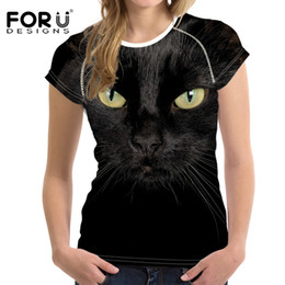 $enCountryForm.capitalKeyWord Australia - Forudesigns 3d Black Cat Female T-shirts For Women 2017 Summer Tops Tees Print Dog T Shirt Women Fashion Tshirts Vetement Femme S19715