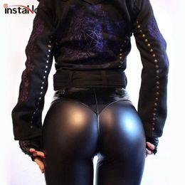 $enCountryForm.capitalKeyWord Australia - Instahot Pu Soft Elastic Skinny Pencil Pants Women 2018 Autumn Club Fashion Ruched Trousers Push Up Leggings Sexy Punk Pant Girl MX190716