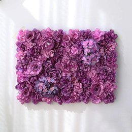 $enCountryForm.capitalKeyWord Australia - Artificial Flower Wall Decor 62*42cm Rose Hydrangea Flower Background Wedding Flowers Home Party Wedding Decoration Accessories