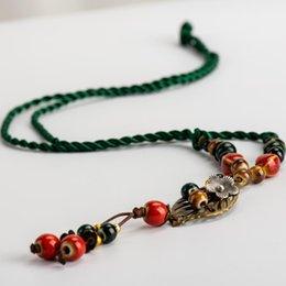 $enCountryForm.capitalKeyWord NZ - Jingdezhen Hankd-made Ceramic beads Memorial necklaces Tassel necklaces traditional boondoggle #IY365