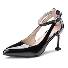 $enCountryForm.capitalKeyWord UK - Womens Ladies High Heels Dress Sandals Party Girls Sexy Pointed Toe Buckle Pumps Shoes Size S1205