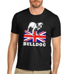 a16aa964ed916 Twisted Envy Men's Union Jack Flag British Bulldog T-Shirt