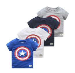 $enCountryForm.capitalKeyWord Australia - baby boys captain t-shirts tee cotton soft tops kids children outwear clothes T shirt short-sleeved Round Neck summer outfit 2-6Y gifts