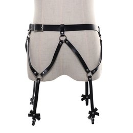b6436b7c8ca 2018 Harajuku Style Sexy Women PU Leather Adjustable Gothic Garter Body  Harness Belts Strap Waist To Leg Thigh Cross Suspenders