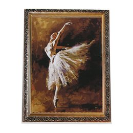 oil paint new Australia - DIY Oil Painting Paint By Number Kit Image Drawing On Canvas By Hand Coloring Arts Crafts & Sewing NEW Ballet Girl