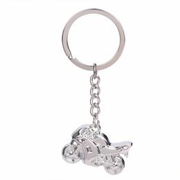 $enCountryForm.capitalKeyWord Australia - Fashion Men Cool 3D Mini Motorcycle Pendant Alloy Keychain Refinement Car Key Ring Motor Silver Key Best Chain Gift