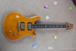 Cross Electric Guitar Australia - Free shipping NEW arrival orange bird fretboard flower cross inlay OEM PRS Electric guitar in stock