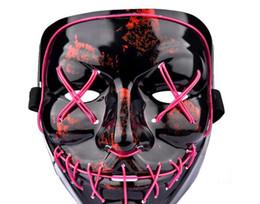 $enCountryForm.capitalKeyWord Australia - Mask led party face masquerade latex of Halloween party fancy dress costume cartoon horror design buy
