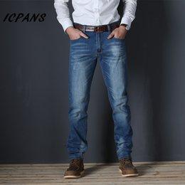 Size 46 Clothes Australia - ICPANS Plus Size 44 46 48 Denim Jeans Men Straight Stretch Denim Men Trousers Casual Male Clothes 2019 Autumn jeans homme