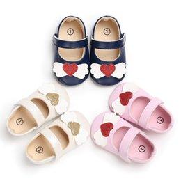 $enCountryForm.capitalKeyWord NZ - Baby Princess Heart PU Shoes Soft Bottom Anti-skid Spring Autumn First Walkers Prewalkers