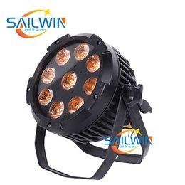 Venta al por mayor de batería inalámbrica 6en1 RGBWAU 9x18w IP65 etapa de potencia LED PAR puede iluminar