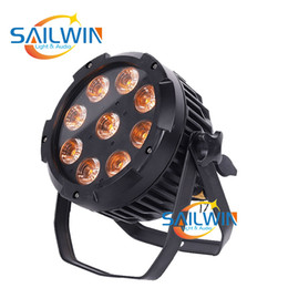 Großhandel IP65 wasserdicht 9x18w 6in1 RGBWAU drahtlose batteriebetriebene Bühne LED-Reflektorlampe kann