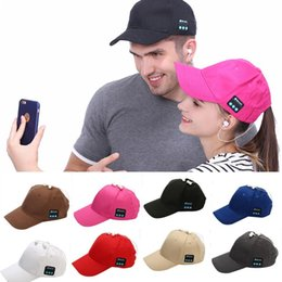 $enCountryForm.capitalKeyWord Australia - beanie bluetooth music hat Baseball Cap Canvas Sun Hat Music Handsfree Headset with Mic Speaker for Smart Phone with Retail Box