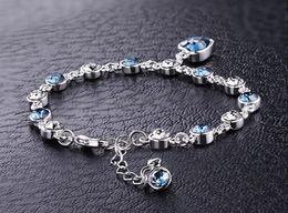 Silver Tennis Bracelet Diamonds Australia - Austrian crystal full diamond bracelet Silver plated birthstone Crystal jewelry Optional multicolor Crystal Bracelet maxi statemet top