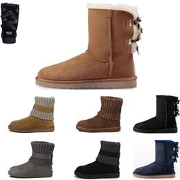 navy blue shoes girls 2019 - Hot Sale Women's Australia Classic Triple black tall Boots Women girl boots Boot Snow Winter booties navy blue grey