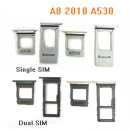 Sim Parts NZ - Sim Tray For Samsung Galaxy A8 2018, A8 Plus 2018 A530 A730 Sim SD Card Holder Sim SD Card Slot Holder Tray Replacement Parts