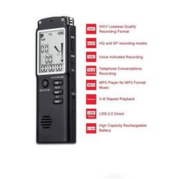 Stereo Recorder Australia - Wolesale Professional Long Recording 8GB Steel Stereo Recording Mini Digital Audio Recorder Voice Recorder MP3 Player FM with retail box