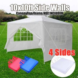 $enCountryForm.capitalKeyWord Australia - Oxford Cloth Party Tent Wall Sides Waterproof Garden Patio Outdoor Canopy 3x3m Sun Wall Sunshade Shelter Tarp Sidewall Sunshade