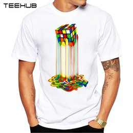 $enCountryForm.capitalKeyWord NZ - 2019 wholesale Summer Abstraction melted cube Printed T-Shirt Short Sleeve Popular Design Tops Novelty
