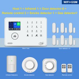gsm home security systems Australia - Smart Tuya 433MHz Wifi Gsm 3G 4G with ip camera Home Security Alarm System Wireless support ip camera
