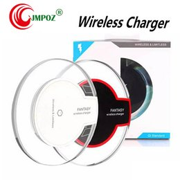 wholesale iphone cell phone docks Australia - For iphone X 8 plus samsung s8 note 8 Qi Wireless Charger receiver module and Charging Pad Cell phone charger dock base Mini Charge Pad