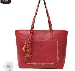 Big Ladies Handbags Australia - Big Top-handle Bags Women Tote Leather Handbag Ladies New Fashion Tassel Sac A Main Female Large Handbags Women Shoulder Bag II-939
