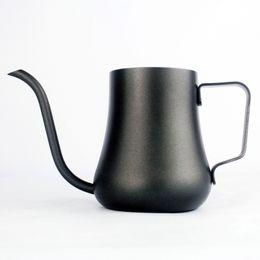$enCountryForm.capitalKeyWord Australia - Stainless Steel Gooseneck Kettle Non-stick Milk Frothing Jug Swan Neck Drip Coffee Tea Pot Teflon Coating Q190604