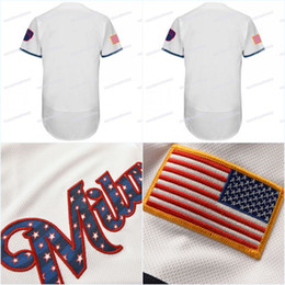 $enCountryForm.capitalKeyWord Australia - 2018 Stars & Stripes Men 22 Christian Yelich 6 Lorenzo Cain 7 Eric Thames 8 Ryan Braun 21 Travis Shaw 24 Jesus Aguilar Baseball Jerseys
