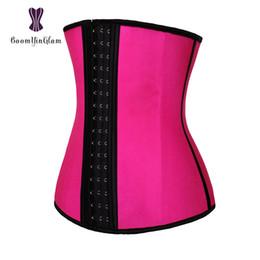 35328777fcb 3 hooks waist cincher shaper 4 steel boned corset body shapewear girdle  belt latex waist trainer for women 2839