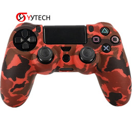 Chinese  SYYTECH Factory Price Camouflage Handle Silicone Case Non-slip Anti-sweat Controller Case Cover For PS4 Slim Pro manufacturers