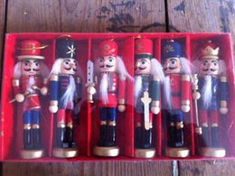 japanese gift set NZ - 6PC SET 12CM Nutcracker puppet soldiers birthday gift to Zakka bar decoration Soldier Puppet Birthday Gift