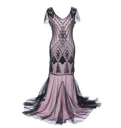 Polyester Chiffon Wedding Dress UK - 2019 new sequins chiffon autumn and winter dress European and American dress long skirt Slim large size wedding dress women's clothing