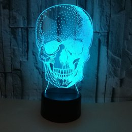 $enCountryForm.capitalKeyWord UK - Trade New Pattern Human Skeleton Head 3d Small Night-light Colorful Touch Remote Control Lamp Halloween Gift Atmosphere 3d Small Desk Lamp