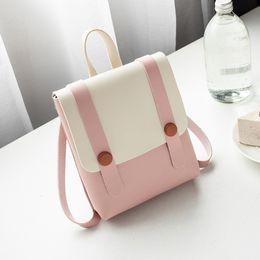 $enCountryForm.capitalKeyWord NZ - 2019 Newest Pink Ladies Mini Backpacks Contrast Color Patchwork Cute Girls Flap Backpack Women Coin Purse Phone Bags