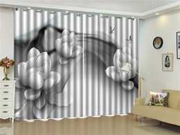 $enCountryForm.capitalKeyWord Canada - Curtain White Flowers, Butterflies, Flying 3D Flower Curtains Living Room Bedroom Beautiful Practical Shade Curtains