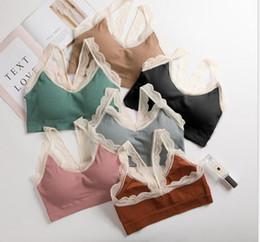 CroChet Cotton vest online shopping - Sexy Women Lace Cotton Tank Tops Sexy V Neck Crochet Vest Casual Bralette Strapless Bandeau Bustier Crop Tops Steampunk Bra